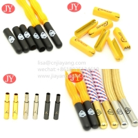 Quality Brass material shoelace aglets metal tips for polyester lace metal buckle for sale