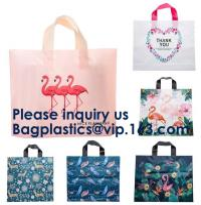 Quality PE PP PVC SHOPPING BAGS, HANDLE BAGS, HANDY CARRIER BAGS, SHOPPER, SOFT LOOP FLEXI LOOP, DIE CUT for sale