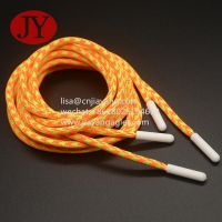 Quality round cotton string injection plastic aglets for bags/hoodies/hats/sportswear drawstrings cord end for sale