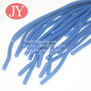 Quality JiaYang high quality round athletic shoelace/cotton shoe laces with plastic tips eco-friendly ABS/TPU plastic aglets for sale