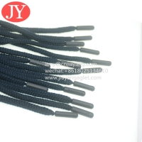 Quality manufacture hot sale round cotton string cord injection drawstring plastic tips free glue rope agelt tips for sale
