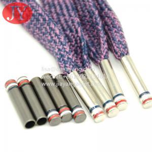 Quality 3 color enamle copper shiny silver color metal aglet copper end cap for cotton lace for sale