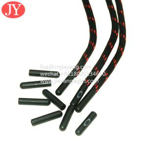 Quality custom fashional plastic aglets shoe lace tips round polyester string shoelaces aglet for sale
