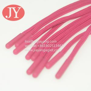 Quality Jiayang Soft TPU plastic tipping eco-friendly not glue tipping plastic aglets cap rope injection aglet for sale