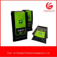 Quality 500g Tea Packaging Food Grade Flat Bottom Pouches Heat Sealing / Opaque for sale