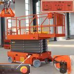 Quality Motion Alarm Mini Scissor Lift Stable Performance Flexible Operation for sale