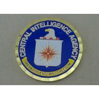 Quality Central Intelligence Agency Brass Military Coin , Soft Enamel And Gold Plating for sale