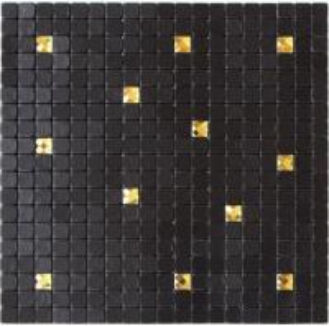 Quality Waterproof Black Self Adhesive Mosaic Wall Tiles , Peel And Stick Metal Tile Backsplash for sale