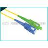Buy cheap ST - ST Fiber Optic Patch Cables , Aqua PVC Sheath Fiber Jumper Cables from wholesalers