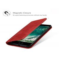 China iPhone 7 Genuine Leather Phone Case / Magnetic Closure Protective Leather Case on sale