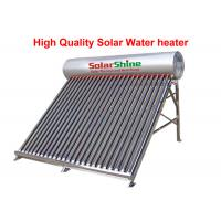 Quality Stainless Steel Evacuated Tube Solar Hot Water Heater Freestanding Installation for sale