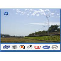 Quality Low Voltage Single Circult Electric Steel Power Pole with Hot Dip Galvanization for sale