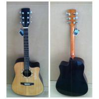 Quality black / white Spruce Solid Wood Acoustic Guitar with cupronickel Fret TP-AG85 for sale