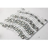 Quality Ice Crack Glass Metal Mosaic Bathroom Backsplash Tile Special Chip Size for sale