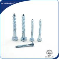 Buy cheap DIN571 Zinc Coated, Carbon Steel, Full Thread Hex wood screw from wholesalers