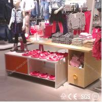 Quality High-end elegant clothes store wood display shelf for sale