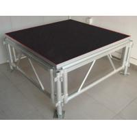 Quality 1.22x1.22M color black can adjustable 3level plywood stage for sale