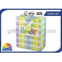 Quality High Grade Paper Gift Wrapping Bags for Baby Showers Packaging with Ribbon Handle for sale