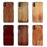 Buy cheap Customized Wood Printed Cell Phone Covers For IPhone X , 3D Sublimation Blank from wholesalers
