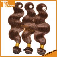 Quality New fashion style! Hot Sell Cheap Color 4 100% Real Human Hair Extensions Remy Brazilian Body Wave Hair Weaves for sale