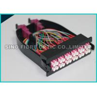 Quality 12 Multimode Fiber Optic Cassette OM4 MPO - LC Module Pink Adapter for sale