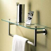 Quality decorative bathroom accessories double towel bar for sale