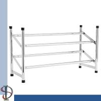 expandable shoe rack chroming metal shoe stand shoes display rack home storage display. Black Bedroom Furniture Sets. Home Design Ideas