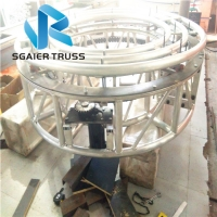 Quality 1m Height Revolving Truss For Led Screen 360 Degree Rotation truss machinery stage truss for sale