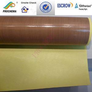 China Teflon /PTFE high temperature cloth, PTFE glass fiber  cloth on sale