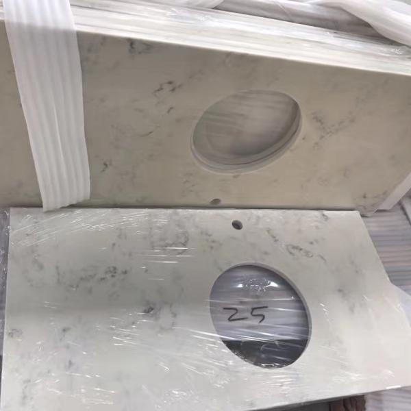 Crystal White Wholesale Quartz Stone Slab Quartz Countertop