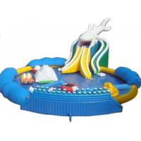 China Blow Up Inflatable Aqua Park , Inflatable Backyard Water Park 20*18m Dimensional Stable on sale