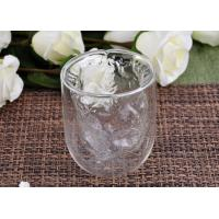 Quality Clear Double Wall Borosilicate Glass Juice Cups Mouth Blown Thermo for sale