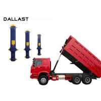 Quality Dump Truck  Single Acting Hydraulic Ram 3 / 4 / 5 Stage Chrome Telescopic for sale
