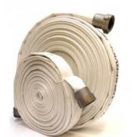 Quality Resistant PVC Lined Canvas Fire Hose Matched With Jet Spray Nozzle / Branchpipe for sale