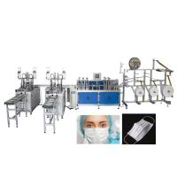 Quality Fully Automatic 2 Lines Medical Mask Disposable Face Mask Making Machine for sale