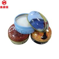 Buy small round metal top food grade tin can for cosmetic candle package at wholesale prices