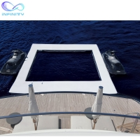 Quality Ocean Sea Inflatable Yacht Swimming Pool With Netting Enclosure for sale