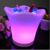 Wholesale LED ice bucket,led bar colorful supplies, light champagne bucket