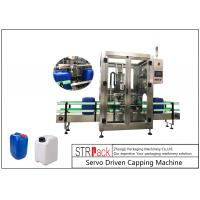 Quality 5L - 25L Plastic Drum Bottle Capping Machine With Full Automatic Single Head 750pcs / Hour for sale