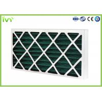 Quality G4 Pleated Replacement Air Filter 45Pa Initial Pressure Drop With Cardboard Frame for sale