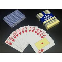 Quality 0.3 0.32mm Thickness Matt Varnish Casino Playing Cards Full color Plastic Material for sale