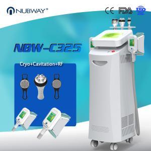 China Hot sale 5 handles cryolipolysis fat freeze slimming machine , cool lipo weight loss combine cavitation, RF vacuum on sale