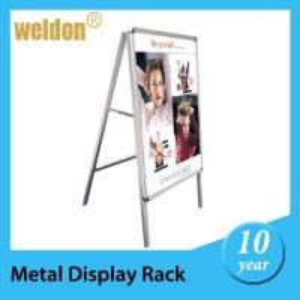 China Metal custom stand up advertisement display boards in display racks on sale