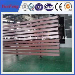 China Brown color powder coating extrusion aluminium, aluminium profile extrusion on sale