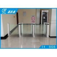 Quality Indoor Smart Speed  Half Height Turnstile Fault Detection With Led Indicator Light For Bank for sale