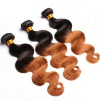 Buy Ombre Human Hair Extensions Brazilian Virgin Hair Body Wave 1b / 30 at wholesale prices