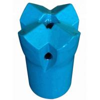 Quality 7/11/12 Degree 42mm Tapered Cutting Bit For Mining , Blue Crossdrill Bit for sale