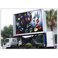 Quality 3 Sides Electronic Full Color Outdoor Message Boards ,  DIP346 LED Sdvertising Truck for sale