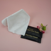 Quality Restaurant Disposable Customized Design Individual Packing Embossed Microfiber Wet Towel for sale