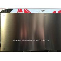 Quality Hairline Finish 304 Stainless Steel Kick Plate Thickness 1.02mm Laser Cutting for sale